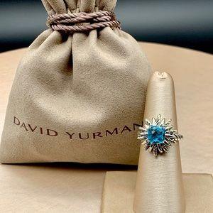 David Yurman Blue Topaz Starburst Ring